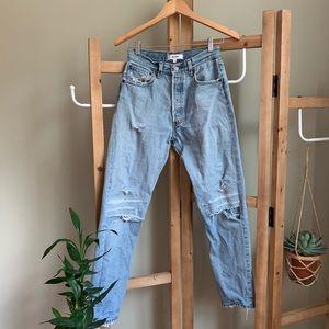 Re/Dun❤️Levi's 🍑Rip jeans